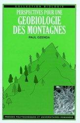 Dernières parutions dans Biologie, Perspectives pour une géobiologie des montagnes