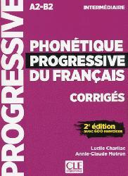 Dernières parutions sur Phonétique, PHONETIQUE PROGRESSIVE FRANCAIS CORIIGES