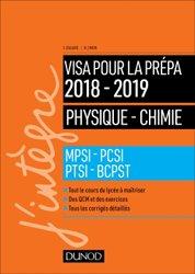 Dernières parutions sur 1ère année, Physique-Chimie - Visa pour la prépa 2018-2019