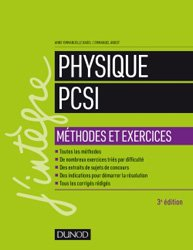 Dernières parutions sur 1ère année, Physique Méthodes et exercices PCSI