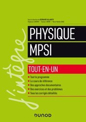 Dernières parutions sur 1ère année, Physique MPSI
