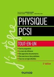 Dernières parutions sur 1ère année, Physique PCSI - Tout-en-un
