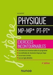Dernières parutions dans J'intègre, Physique MP MP* PT PT*