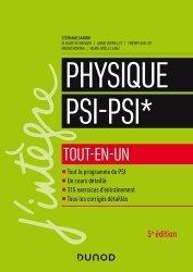 Dernières parutions dans J'intègre, Physique tout-en-un PSI-PSI*