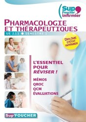 Dernières parutions dans Sup'Foucher Infirmier, Pharmacologie et thérapeutiques Mémos - QROC - QCM