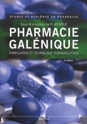 Souvent acheté avec Pharmacie galénique, le Pharmacie galénique