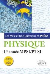 Dernières parutions sur 1ère année, Physique 1re année MPSI-PTSI