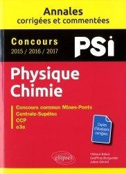 Dernières parutions dans Annales, Physique chimie PSI