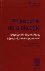 Dernières parutions sur Histoire et philosophie des sciences, Philosophie de la biologie