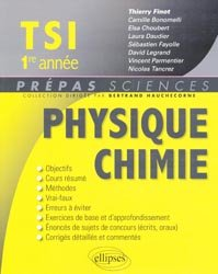 Souvent acheté avec Exercices résolus de chimie physique, le Physique Chimie  TSI  1re année