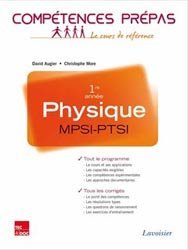 Dernières parutions dans Compétences prépas, Physique 1ère année MPSI, PTSI