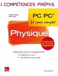 Dernières parutions dans Compétences prépas, Physique PC PC*