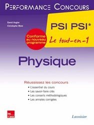 Dernières parutions dans Performance concours, Physique PSI PSI* 2ème année