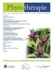 Dernières parutions sur Phytothérapie, Phytothérapie Volume 18 N° 1, février 2020