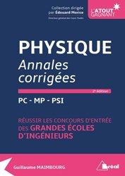 Dernières parutions sur Physique pour la prépa, Physique annales corrigées
