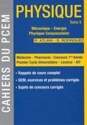 Dernières parutions dans Cahiers du PCEM, Physique Tome 2