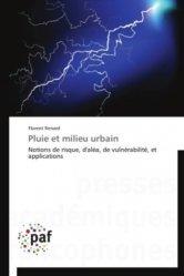 Dernières parutions sur Urbanisme durable - Nature urbaine, Pluie et milieu urbain