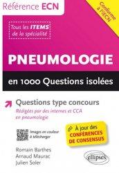 Souvent acheté avec Endocrinologie-métabolique-diabétologie en 1000 questions isolées, le Pneumologie en 1000 Questions isolées