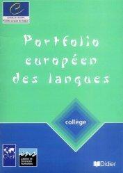 Dernières parutions sur CECR, PORTFOLIO EUROPEEN LANGUES COLLEGE
