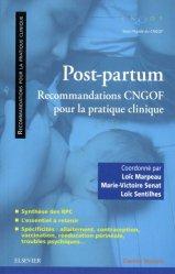 Dernières parutions dans Pratique en gynécologie-obstétrique, Post-partum : recommandations CNGOF
