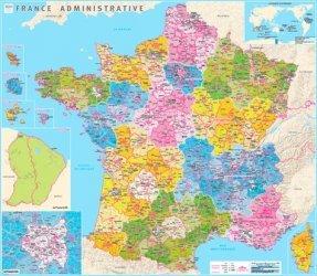 Dernières parutions sur Cartes thématiques, Poster France administrative plastifié. 1/204 000