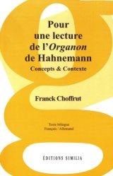 Dernières parutions sur Homéopathie, Pour une lecture de l'Organon de Hahnemann