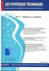 Dernières parutions dans Les Synthèses techniques de l'office international de l'eau, Polluants et pollution