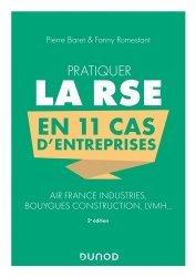 Dernières parutions sur Économie et politiques de l'écologie, Pratiquer la RSE en 11 cas d'entreprises