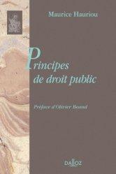 Dernières parutions dans bibliothèque dalloz, Principes de droit public