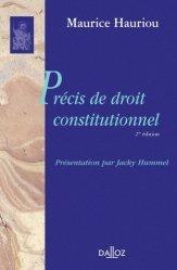 Dernières parutions dans bibliothèque dalloz, Précis de droit constitutionnel. 2e édition