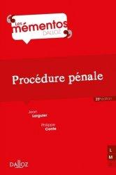 Dernières parutions dans Mémentos Dalloz. Série Droit Privé, Procédure pénale. 25e édition