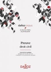 Dernières parutions sur Code civil, Preuve. Droit civil