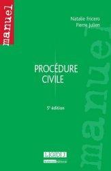 Nouvelle édition Procédure civile. 5e édition