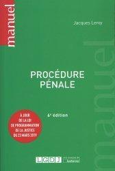 Dernières parutions dans Manuels, Procédure pénale. 6e édition