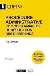 Dernières parutions sur Préparation au CRFPA, Procedure administrative et modes amiables de résolution des différends