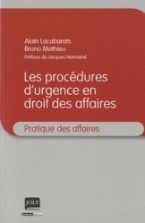 Dernières parutions dans Pratique des affaires, Procédures d'urgence en droit des affaires