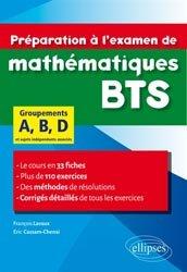 Dernières parutions sur BTS - DUT - IUT, Préparation à l'examen de mathématiques BTS groupements A, B, D