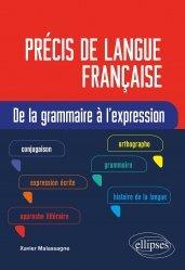 Dernières parutions sur Langues et littératures étrangères, Précis de langue française