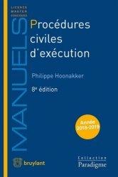 Dernières parutions dans Paradigme - Manuels, Procédures civiles d'exécution. 8e édition