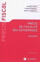 Dernières parutions sur Fiscalité d'entreprise, Précis de fiscalité des entreprises. Edition 2020-2021