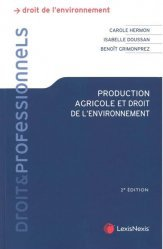 Nouvelle édition Production agricole et droit de l'environnement