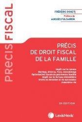 Nouvelle édition Précis de droit fiscal de la famille