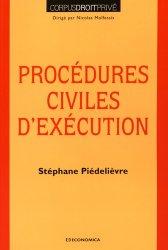 Dernières parutions dans Corpus Droit Privé, Procédures civiles d'exécution