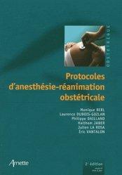 Dernières parutions dans Anesthésie, Protocoles d'anesthésie-réanimation obstétricale rechargment cartouche, rechargement balistique