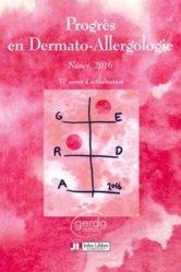 Dernières parutions sur Allergologie, Progrès en Dermato-Allergologie - GERDA 2016