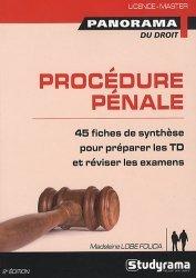 Dernières parutions dans Panorama du droit, Procédure pénale