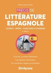 Dernières parutions dans concours études supérieures, Précis de littérature espagnole