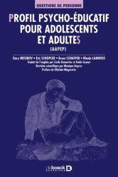 Dernières parutions dans Questions de personne, Profil psycho-éducatif pour adolescents et adultes (AAPEP)