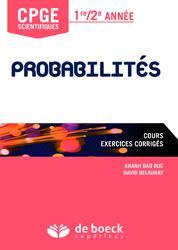 Dernières parutions dans Prépas scientifiques, Probabilité MPSI/MP