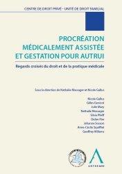 Dernières parutions sur Droit privé, Procréation médicalement assistée et gestation pour autrui